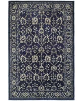 """Tidewater Fortune Navy/Grey 3'10"""" x 5'5"""" Area Rug"""