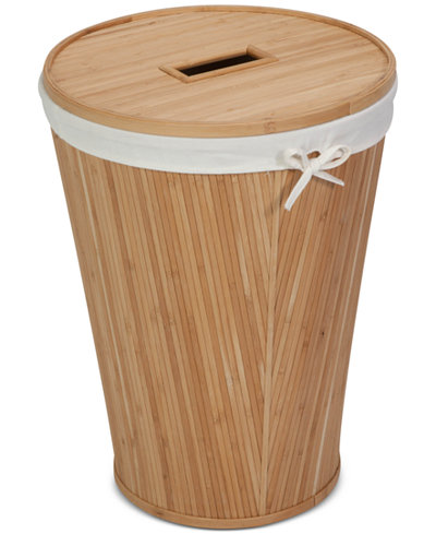 Honey can do nested bamboo hamper with lid storage organization for the home macy 39 s - Corner hamper with lid ...