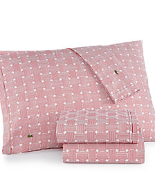 CLOSEOUT! Lacoste Printed Cotton Percale Pair of King Pillowcases