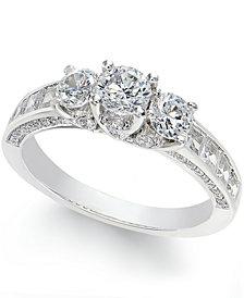 Diamond 3-Stone Ring (2 c.t. t.w.) in 14k White Gold