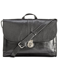 Nash Men's Heritage Leather Messenger Bag