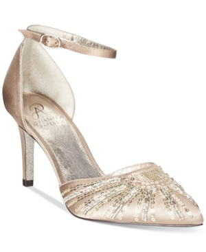 Vintage Inspired Wedding Dresses Adrianna Papell Hollis Evening Pumps Womens Shoes $129.00 AT vintagedancer.com