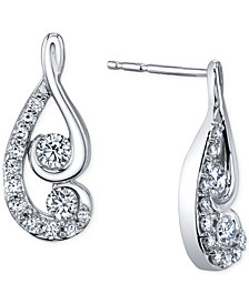 Proud Mom designed by Jaime King Diamond Swirl Earrings (1/2 ct. t.w.) in 14k White Gold