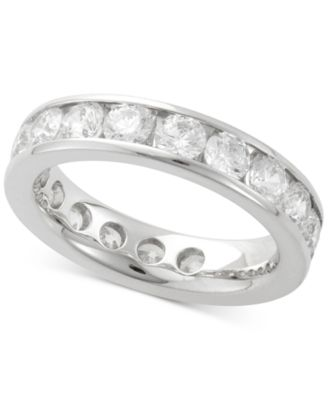 Diamond Channel Set Eternity Band (3 ct. t.w.) in 14k White Gold