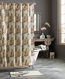 Croscill Bath, Mosaic Leaves Shower Curtain