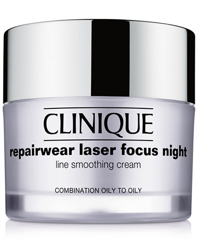 Clinique Repairwear Laser Focus Night Line Smoothing Cream - Combination Oily to Oily, 1.7 oz