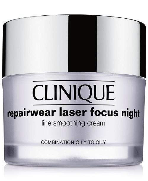 Clinique Repairwear Laser Focus Night Line Smoothing Cream - Combination Oily to Oily, 1.7 oz