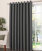 """Sun Zero Grant Room Darkening Grommet 100"""" x 84"""" Patio Panel"""