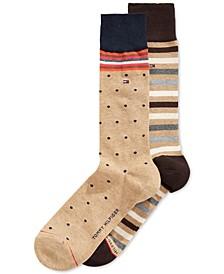 Print Trouser Socks, 2 Pack