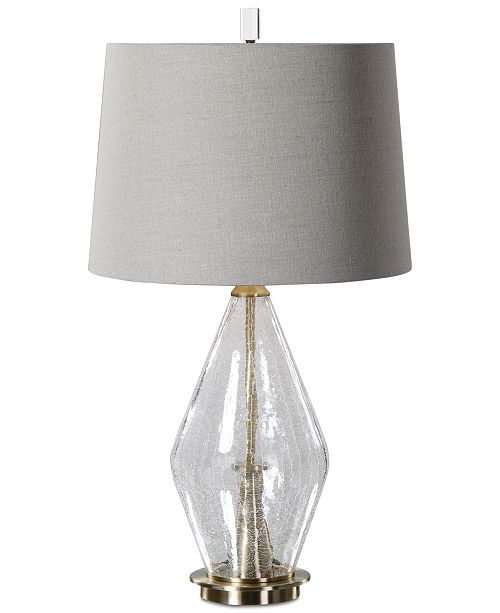 Uttermost spezzano crackled glass table lamp lighting lamps main image main image aloadofball Images