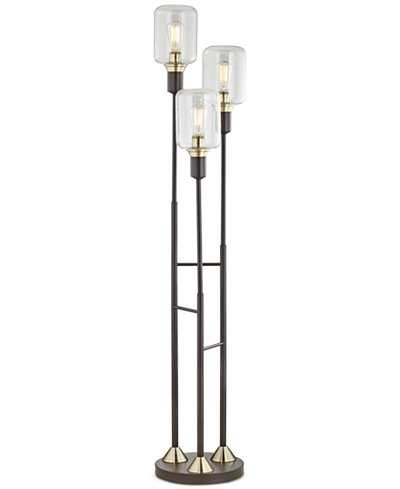 Pacific coast menlo lane 3 light floor lamp lighting for Glass lantern floor lamp