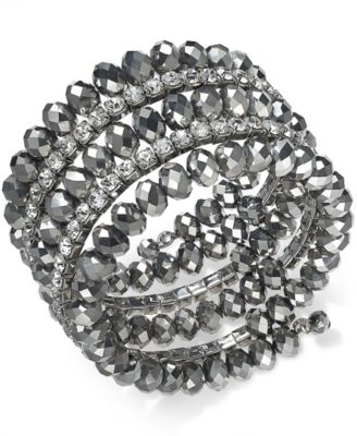 Image of INC International Concepts Coil Wrap Beaded Bracelet, Created for Macy's