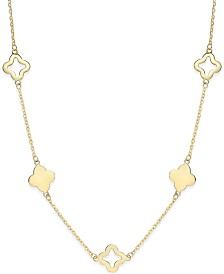 Clover Necklace in 14k Gold