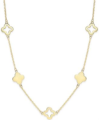 Clover Necklace In 14k Gold Necklaces Jewelry