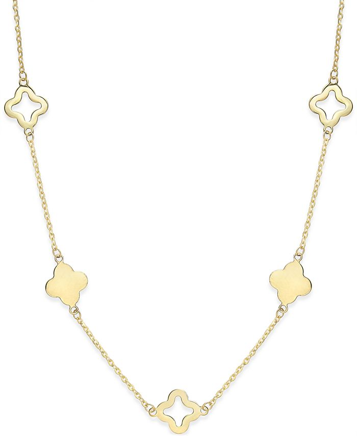Macy's - Clover Necklace in 14k Gold