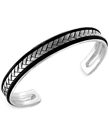 EFFY Men's Woven Cuff Bracelet in Sterling Silver