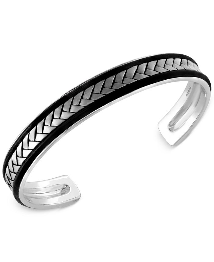EFFY Collection - Men's Woven Cuff Bracelet in Sterling Silver