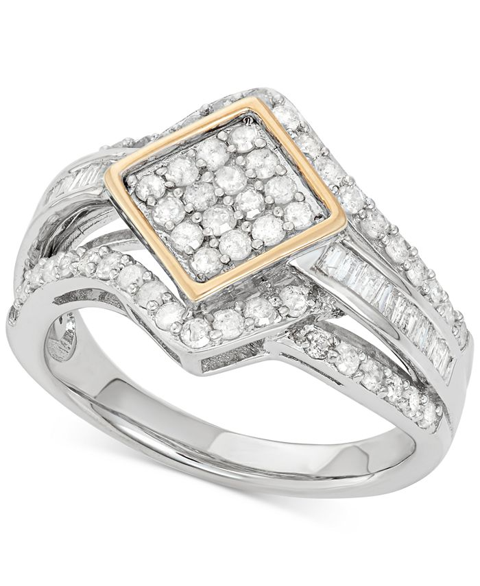 Wrapped in Love - Diamond Ring (1 ct. t.w.) in 14k Gold and Sterling Silver