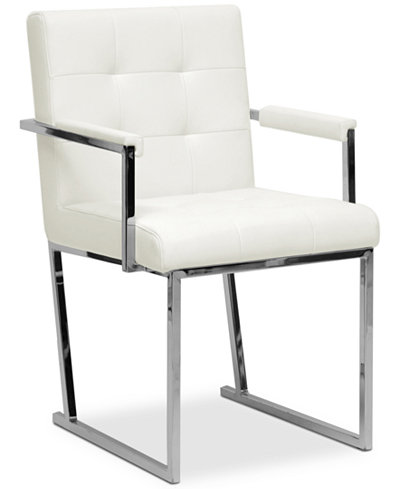 Analee Faux Leather Chair, Quick Ship