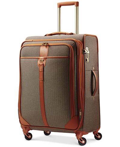 CLOSEOUT! Hartmann Herringbone Luxe 25 Medium Journey Expandable Spinner Suitcase