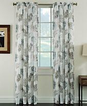 "Miller Curtains Audrey 50"" x 84"" Sheer Print Curtain Panel"