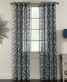 "Miller Curtains Campbell 50"" x 84"" Textured Print Sheer Curtain Panel"