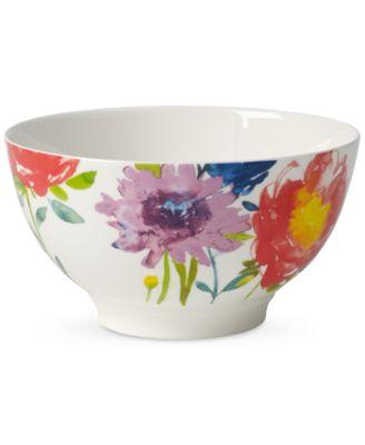 Amnut Flowers Collection Bone China Rice Bowl