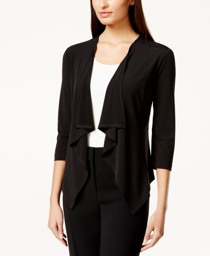 Connected Three-Quarter-Sleeve Ruffle Sweater & Reviews - Women's Brands - Women - Macy's
