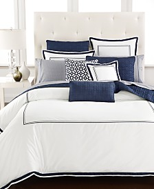 Hotel Collection Embroidered Frame King Duvet Cover, Created for Macy's