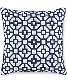 "Embroidered Frame 18"" Square Decorative Pillow, Created for Macy's"