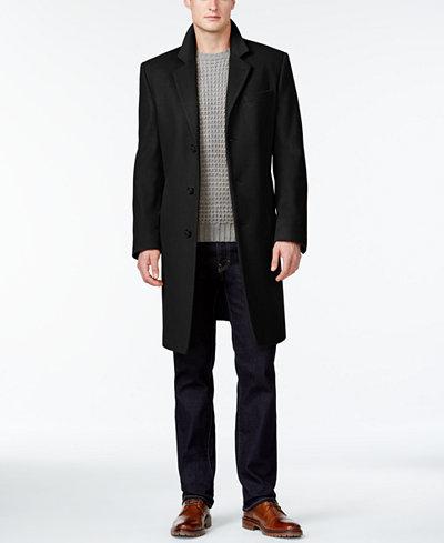 Michael Kors Men's Madison Luxury Italian Fabric Modern-Fit Overcoat