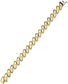 Large San Marco Chain Bracelet in 14k Gold