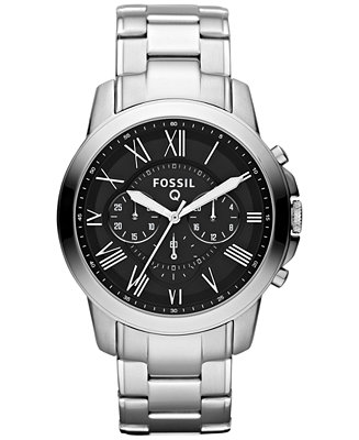 Fossil Men's Chronograph Q Grant Stainless Steel