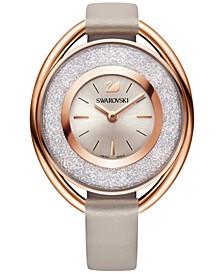 Women's Swiss Crystalline Calfskin Leather Strap Watch 37mm