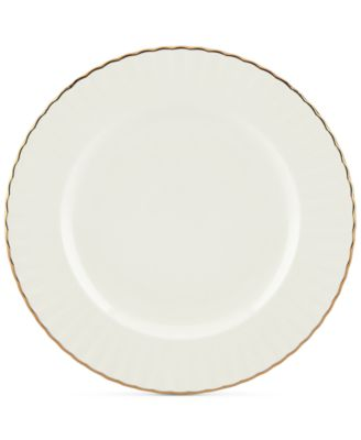 Dinnerware Ironstone Shades of White Accent Plate