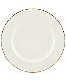 Marchesa by Lenox Dinnerware Ironstone Shades of White Accent Plate