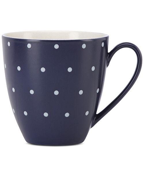 kate spade new york Larabee Dot Navy Collection Stoneware Mug