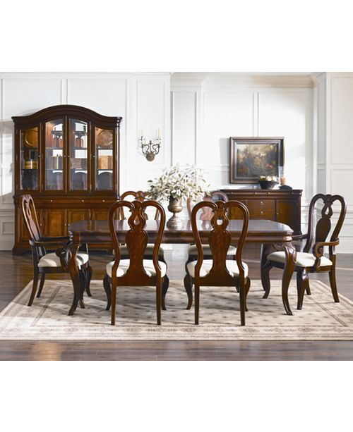 Shop Queen Anne Desk Chair Set Free Shipping Today >> Furniture Closeout Bordeaux 7 Piece Dining Room Furniture