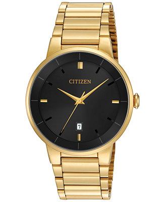Citizen Men S Gold Tone Stainless Steel Bracelet Watch