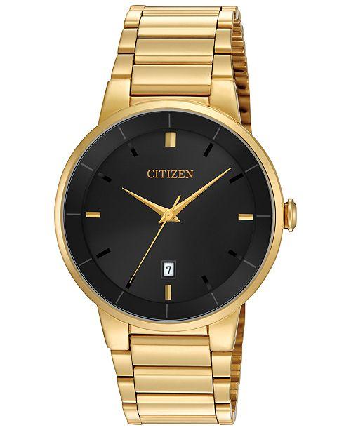 Citizen Men's Gold-Tone Stainless Steel Bracelet Watch 40mm BI5012-53E