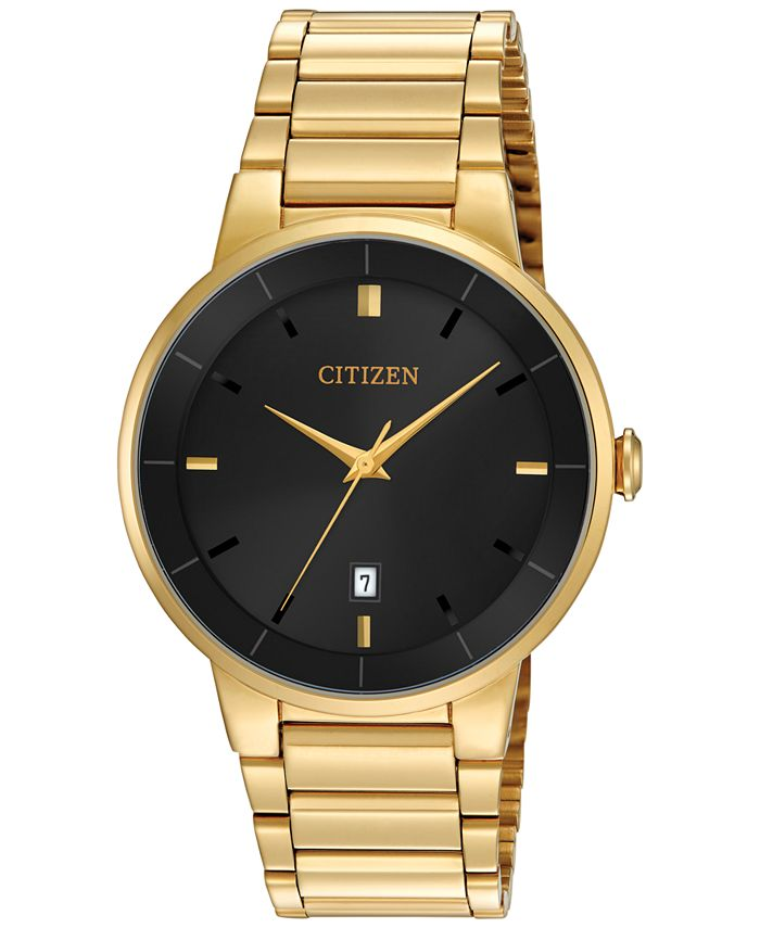 Citizen - Men's Gold-Tone Stainless Steel Bracelet Watch 40mm BI5012-53E