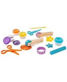 Melissa and Doug Kids' Cut, Sculpt & Stamp Clay Play Set