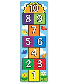 Kids' Hop & Count Hopscotch Rug & Throwing Beanies Playmat