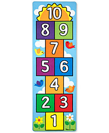 Melissa and Doug Kids' Hop & Count Hopscotch Rug & Throwing Beanies