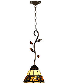 Dale Tiffany Pebble Stone Mini Metal Pendant Light