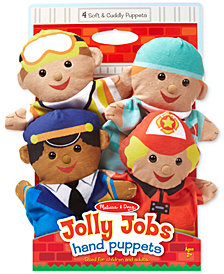 Melissa and Doug Kids' Jolly Jobs Hand Puppets Set