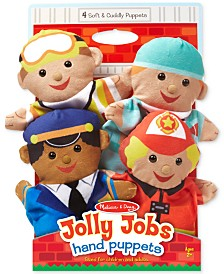 Melissa and Doug Kids' Jolly Jobs Hand Puppets Set