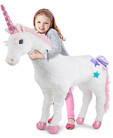 Melissa and Doug Kids' Plush Unicorn Stuffed Toy
