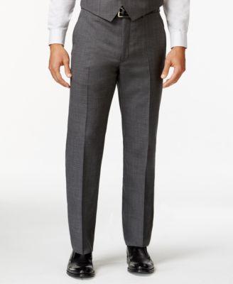 Grey Sharkskin Big and Tall Classic Fit Dress Pants