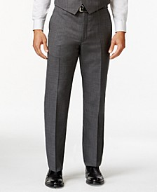 Grey Sharkskin Big and Tall Classic Fit Dress Pants